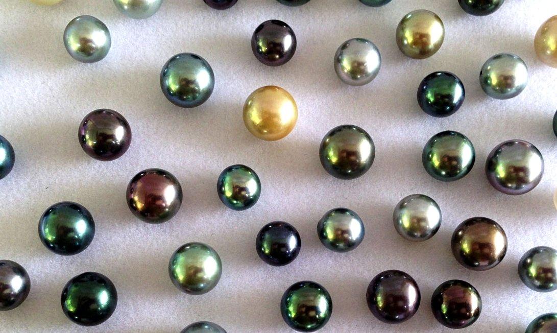 lustres de perles de tahiti